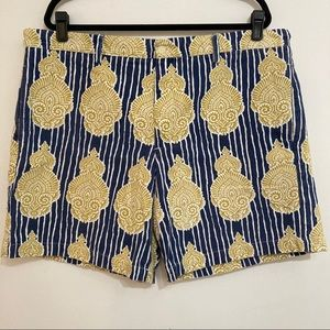Roller rabbit shorts size 38 men's yellow blue